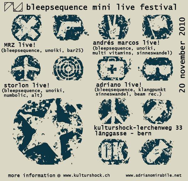 bleepsequence live festival - bern