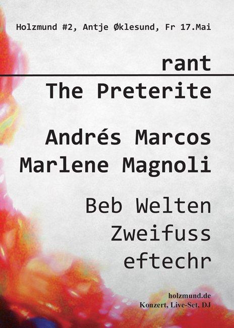Andres Marcos Revellado Live PA - Holzmund #2 at Antje Øklesund - Berlin - 17.05.2013