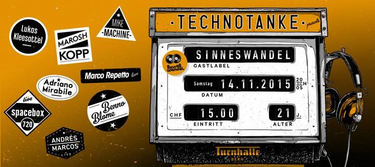 Andres Marcos Revellado Live - Technotanke - Turnhalle Bern - Sinneswandel